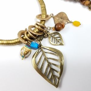 Chico's Pendant Charms Long Southwestern Necklace
